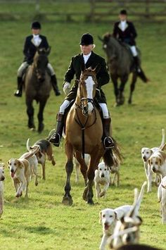 Captain Ian Farquhar, master of the hunt, arrives for the Duke of Beaufort's hunt on his estate near Tetbury, England, on Dec. 26, 2000. A fox-hunting ban went into effect in 2004.