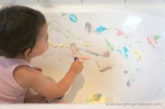 Painting with the 2 ingredient bath paints