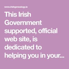 This Irish Government supported, official web site, is dedicated to helping you in your search for records of family history for past generations. Family Information, Marriage Records, Ancestry Dna, Family Research, Free Family Tree, Irish Roots, My Family History, Dna Test, Ireland