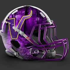 Minnesota Vikings alt helmet design Cool Football Helmets, Nfl Football Teams, Best Football Team, Football Memes, Kids Football, Sports Teams, Minnesota Vikings Football, Nfl Vikings, Viking Wallpaper
