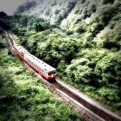 谷を見下ろして / Look down on a valley - Hue, My Photos, Train, Pictures, Strollers, Resim, Clip Art