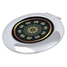 Shop Chic Gold & Green Asian Style 2 Round Compact Mirror created by BlueRose_Design. Compact Mirror, Asian Style, Heart Shapes, Mirrors, Vibrant Colors, Luxury, Chic, Metal, Glass