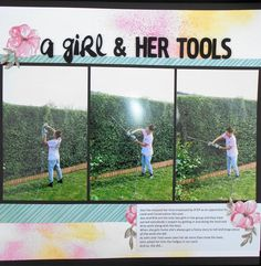 another layout using My Scrapbook Room September kit