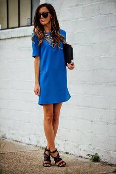 Necessary Clothing Klein Blue Mini Shift Dress