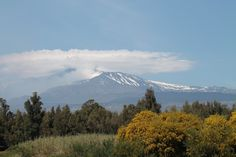 The active Etna volcano, Sicily, from east