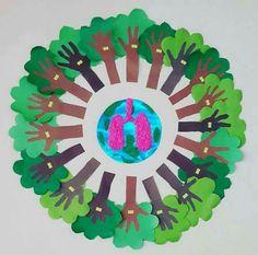 School Projects, Projects For Kids, Art Projects, Crafts For Kids, Arts And Crafts, Paper Crafts, Earth Day Activities, Indoor Activities For Kids, Preschool Activities