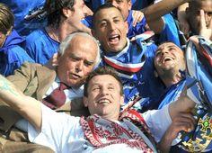 Garrone festeggia con Palombo, Pazzini e Cassano. Addio #Garrone!