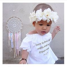Ivory flower crown / baby flower crown / boho chic / trendy / flower crown / mommy and me / bridesmaid / flower girl / flowers / offwhite