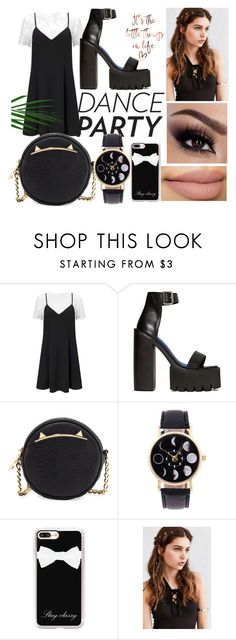 """""""simple outfit for party"""" by mrshoran-gail ❤ liked on Polyvore featuring Miss Selfridge, Jeffrey Campbell, Betsey Johnson, Casetify and REGALROSE"""