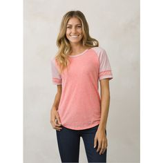 f2c68c5121aa8 prAna Cleo T-Shirt ( 35) ❤ liked on Polyvore featuring tops
