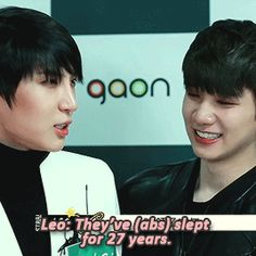 after a fan said that they hope Leo's abs will wake up ( ͡° ͜ʖ ͡°) (3/4)