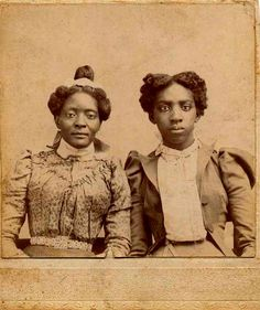 "Mother and daughter? From Facebook - ""Vintage African American Photographs"""