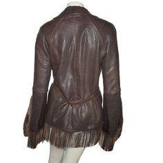 depot vente de luxe en ligne JEAN PAUL GAULTIER veste en cuir franges marron | TendanceShopping.com http://www.tendanceshopping.com/JEAN-PAUL-GAULTIER-VESTE-FRANGES-EN-CUIR-MARRON.html