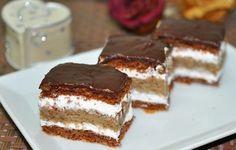Ez nekem is tutira a kedvenceim közé kerülne! My Recipes, Sweet Recipes, Cake Recipes, Dessert Recipes, Cooking Recipes, Hungarian Desserts, Hungarian Recipes, Cake Bars, Sweet Cookies