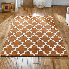 Arabesque rug in rust buy online from the rug seller uk