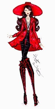 Theodora fashion illustration by Hayden Williams #OZ: The great and powerful