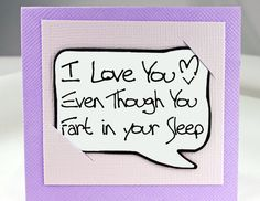 Valentines Day Card. Valentine Card. Funny Valentine Card for Him. Fart Card.. $3.25, via Etsy.