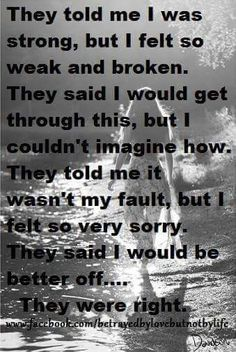 Consumed with guilt at first cause you made it believable. but this time my eyes are open you who you really are. I've pulled down the covers and no longer look through rose petalled glasses. your cover is blown. Verbal Abuse, Emotional Abuse, Motivational Memes, Inspirational Quotes, Guilt Quotes, Survivor Guilt, Working On Me, Divorce Humor, The Ugly Truth