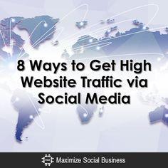 8 Ways to Get More Website Traffic via Social Media