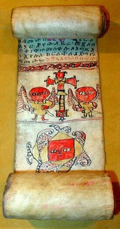 This is an antique Ethiopian scroll which was made by Coptic Priests for an indiviual's protection, healing, and or blessings. Medieval World, Medieval Art, Ancient Scripts, Old Best Friends, Horn Of Africa, Religious Text, Byzantine Art, Book Of Hours, Ancient Artifacts