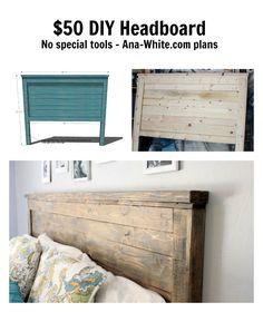 Reclaimed Wood Headboard Queen Size