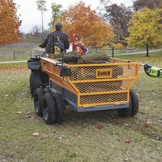 This handy Bannon Utility Trailer features a large x steel bed to haul loads up to lbs. Flared side panels effectively contain . Landscape Trailers, Atv Attachments, Small Cooler, Loading Ramps, Atv Riding, Deck Construction, Steel Bed, Atv Accessories, Utility Trailer
