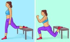 9 Exercises That Will Tighten Your Butt And Legs Without Going To The Gym - Womens Cares & Health Gluteal Muscles, Thigh Muscles, Shoulder Muscles, Spiderman Poses, Types Of Squats, Transformation Fitness, Single Leg Bridge, Single Leg Deadlift, Glute Bridge