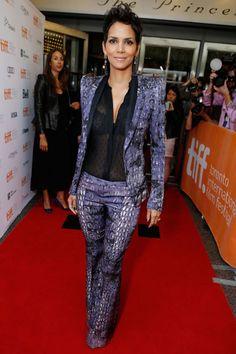 heaven-sent Halle Berry (in a Roberto Cavalli pant suit with Monique Lhuillier blouse) #TIFF12 #CloudAtlas
