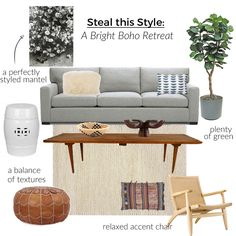 How to design a bright boho living room on a budget