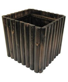Loving this Char-Log Square Planter on #zulily! #zulilyfinds