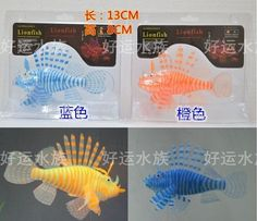 Simulation Turkey Fish Aquarium Lionfish Fish Tank Ornament  Fish Bowl WUS