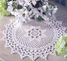 #Crochet #doily pattern #thread