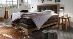 Gemütliches Bett im Landhaus-Look. #luxus #landhaus #boxspringbetten #schlafzimmerideen