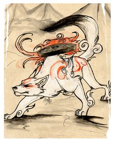 Amaterasu, would love her to feature in a tattoo and this design is awsome