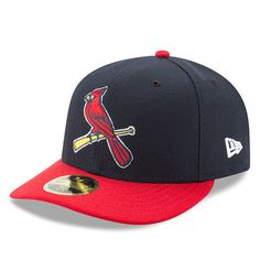 cf38cd43a67 Men s St. Louis Cardinals New Era Navy Red Alternate 2 Authentic Collection  On-Field Low Profile 59FIFTY Fitted Hat
