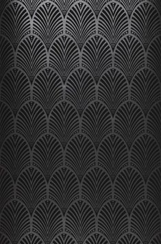 Art Deco fan patterns are incredibly versatile and timeless. In this dark variation with a luxuriant shimmering background, this stylish design wal. Wallpaper Art Deco, Wallpaper Samples, Designer Wallpaper, Pattern Wallpaper, Op Art, Au Hasard Balthazar, Design Elements, Design Art, Basic Colors