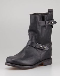 Moto Leather Boot, Black by Rag & Bone at Neiman Marcus.