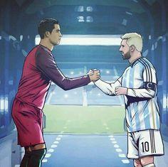 Cristiano Ronaldo and Lionel Messi! Cristiano Ronaldo and Lionel Messi! Real Madrid Football, Football Love, Football Is Life, Football Art, Football Memes, Cr7 Messi, Messi Vs Ronaldo, Messi Soccer, Messi 10