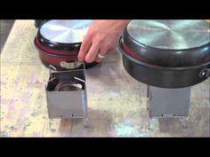 NEW! Ultralight Backpacking Wood-Burning Stove 5.6 oz Folding Firebox Nano - YouTube