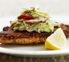 Annabel Langbein - Chicken schnitzels with Waldorf salad in NZ Life and Leisure… Kiwi Recipes, Healthy Recipes, Yummy Recipes, Healthy Food, Yummy Food, Easy Food To Make, Quick Easy Meals, Roast Chicken Noodles, Chicken Schnitzel