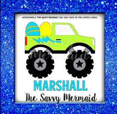 Easter Boys SVG file - Monster Truck - Shirt Design - Easter Bucket Design - Vinyl Cutters. Use with Silhouette or Cricut or as a Printable Iron On Design! Svg Eps Dxf Png Jpg