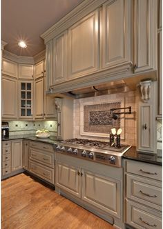 Love this Kitchen, would pick a darker cabinet