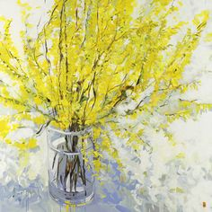 Bobbie Burgers I've Got a Crush on You painting for sale - Bobbie Burgers I've Got a Crush on You is handmade art reproduction; You can shop Bobbie Burgers I've Got a Crush on You painting on canvas or frame. Abstract Flowers, Watercolor Flowers, Watercolor Art, Paintings I Love, Your Paintings, Art Floral, Art Moderne, Mellow Yellow, Painting Techniques