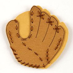 Baseball Glove Paper-Piecing Pattern. Could be a cool birthday invitation idea