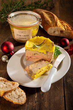 Foie gras, které nabízí Pekárna Nostress Bakery Složení : kachní játra, pepř, sůl, koření, portské víno Hmotnost: 200g Restaurant Guide, Foie Gras, Korn, Camembert Cheese, Dairy, Fine Dining, Grains