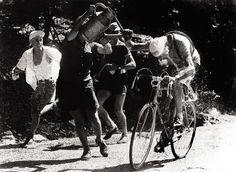 Tour de France 1952. 14^Tappa, 9 luglio. Aix-en-Provence > Avignon. Mont Ventoux. Fausto Coppi (1919-1960)