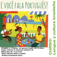 Lengua y cultura brasileña,  los miércoles los esperamos  en  #ateliertallerescuela