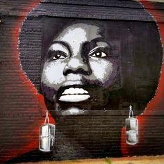 Damien Mitchell /// Hommage à Nina Simone, Brooklyn – New York - www.street-art-avenue.com