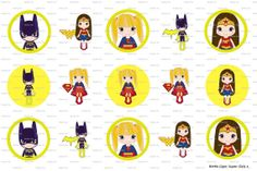 15 Super Girls Digital Download for 1 Bottle Caps 4x6 by MaddieZee, $1.75