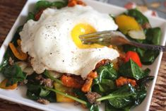 Sweet Potato, Onion, Bell Pepper and Sausage Hash recipe by Barefeet In The Kitchen Spinach Recipes, Paleo Recipes, Budget Recipes, Breakfast Bread Recipes, Breakfast Ideas, Breakfast Sausages, Paleo Breakfast, Hot Sausage, Turkey Sausage